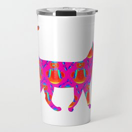 Snowman  Cat Travel Mug