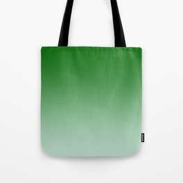 Green to Pastel Green Horizontal Linear Gradient Tote Bag