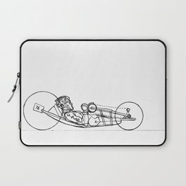 Transitions through Triathlon Para Cyclist Drawing Laptop Sleeve