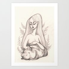 Swine Guardian Art Print