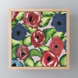 Patriotic Peonies Framed Mini Art Print