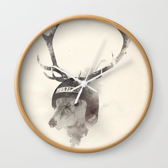 In the memory of Buzz Harley Wall Clock