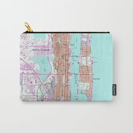 Vintage Map of Palm Beach Florida (1946) 2 Carry-All Pouch