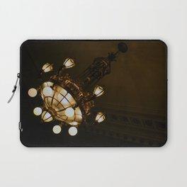 Circular Gold Illuminated Orb Hanging Chandelier Print Laptop Sleeve