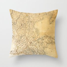 Map of Zhili and Shandong, China (c1855-1870) Throw Pillow