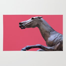 HORSE ON PINK Rug
