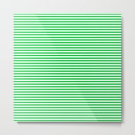TINY STRIPE ((true green)) Metal Print
