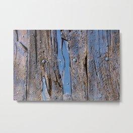 Wooden door in Gordon, France Metal Print