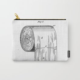 Vintage Toilet Paper Invention Patent (1891) Carry-All Pouch