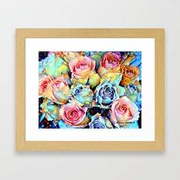 For Love of Roses Framed Art Print