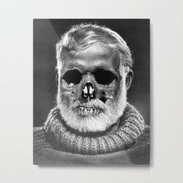 Hemingway Alive! Metal Print