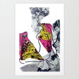 Butterflies in the Meadow IV Art Print