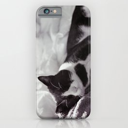 Cat at ease iPhone Case