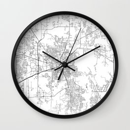 Minimal City Maps - Map Of Huntsville, Alabama, United States Wall Clock