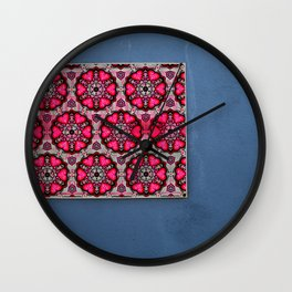 Romany Love 510 on blue wall Wall Clock