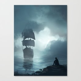 Hallucination of Robinson Crusoe Canvas Print