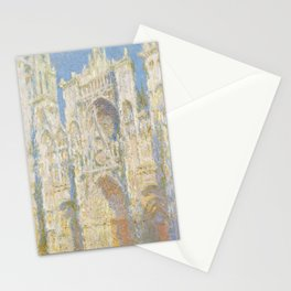 Rouen Cathedral, West Façade, Sunlight Stationery Cards