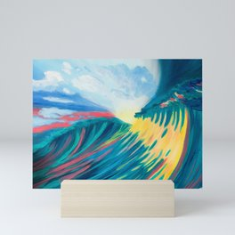 Sunset Waves Mini Art Print
