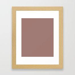Burnished Brown - solid color Framed Art Print