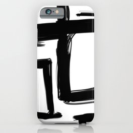 Squares Without a Care iPhone Case