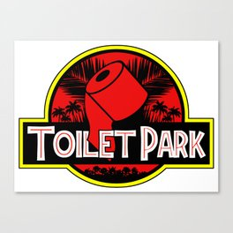 Toilet Park Canvas Print