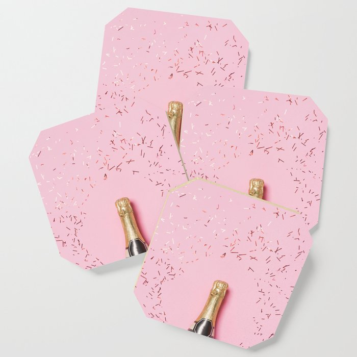 Pink Champagne Party Coaster