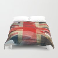 union jack Duvet Covers featuring Union Jack by Honeydripp Designs