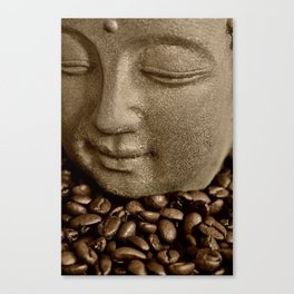 buddha coffee 2 Canvas Print