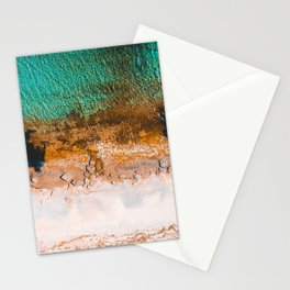 Bay overview from a drone with clear water Stationery Cards