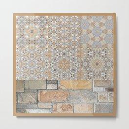 The Alamo Wall Collage 6396 Metal Print