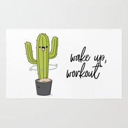 Cactus workout Rug