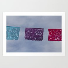 Banners in the sky Art Print