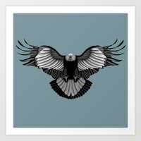 eagle Art Prints featuring Eagle by Schwebewesen • Romina Lutz