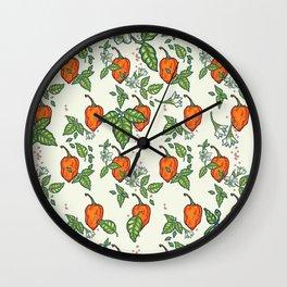 hot habanero Wall Clock