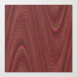 Abstract Woven Threads Mauve Canvas Print