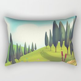Go Hiking! Rectangular Pillow
