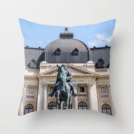 Rouamnia, Central University Library Carol I, Bucarest Throw Pillow