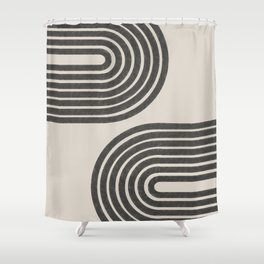 Woodblok Rainbow Art Shower Curtain