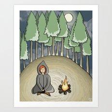 Campfire Girl Art Print