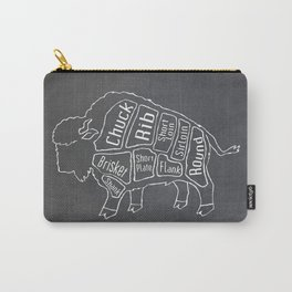 Buffalo Butcher Diagram (Meat Chart) Carry-All Pouch