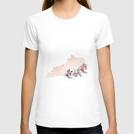 Kentucky Watercolor Floral State T-shirt