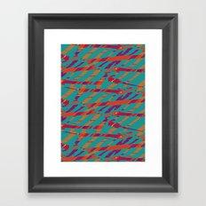 TORN STRIPES Framed Art Print