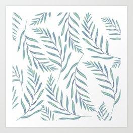 Delicate Leaves Art Print