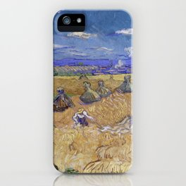 Vincent van Gogh - Wheat Fields with Reaper, Auvers iPhone Case