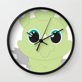 Baby Triceratops  Wall Clock