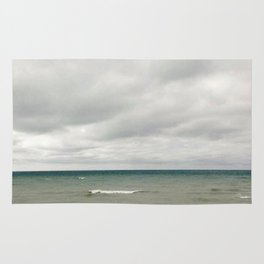 Rolling Waves And Cloudy Skies Rug