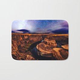 Horseshoe Bend Starseeds - Starry Sky Night at Grand Canyon Arizona Bath Mat