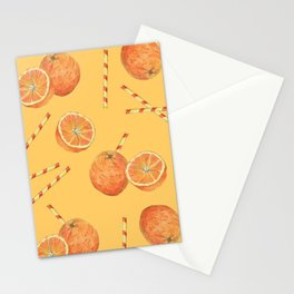 orange juice _ light Stationery Cards