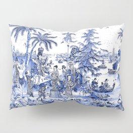 Chinoiserie Blue Landscape Pillow Sham