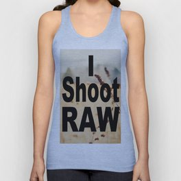 I SHOOT RAW Unisex Tank Top